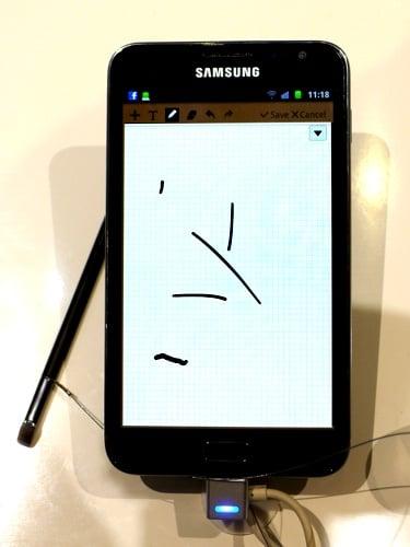 Samsung Galaxy Note smartphone