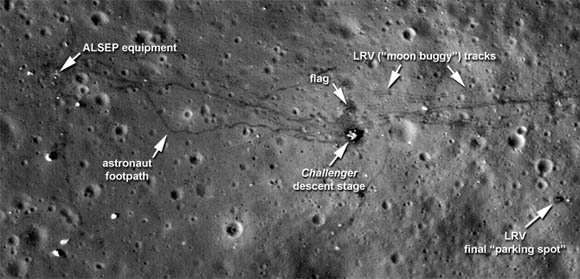 Apollo 17 landing site as photographed in 2011
