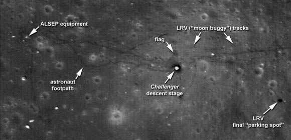 Apollo 17 landing site as photographed in 2009