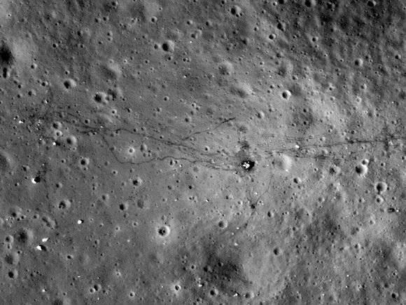 NASA's recent photo of the Apollo17 landing site