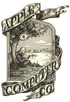 The original Apple logo