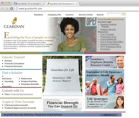 guardianlife website