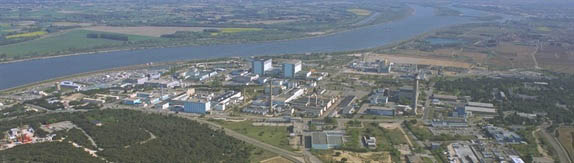 The Marcoule nuclear waste-processing plant