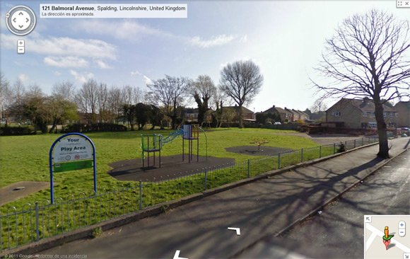 Street View image of kids playground and park on Balmoral Avenue, Spalding