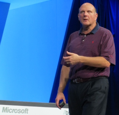 Steve Ballmer takes the stage at Build