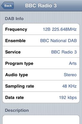 Lingo iMini DAB/FM receiver for iOS