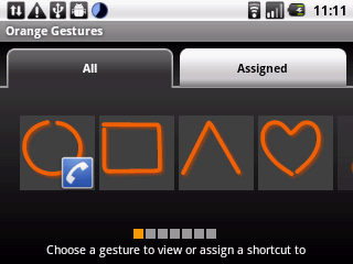 Orange Barcelona Android Qwerty smartphone UI screenshot