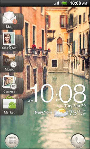 HTC Sense UI screenshot