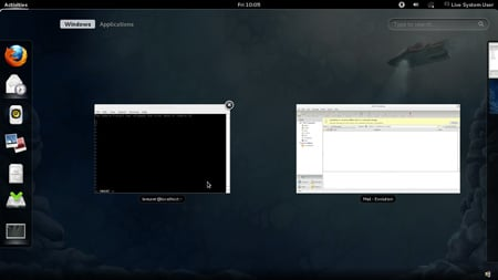 Fedora 16 beta Gnome 3.2