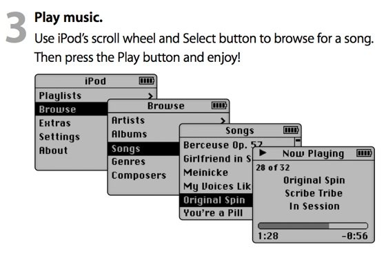 Apple iPod first generation UI