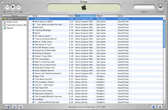 Apple Tunes 1.0 screenshot