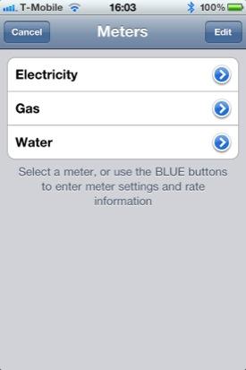 Meter Readings screenshot