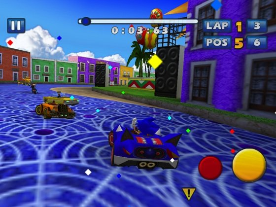 Sonic All-Stars Racing iOS game screenshot