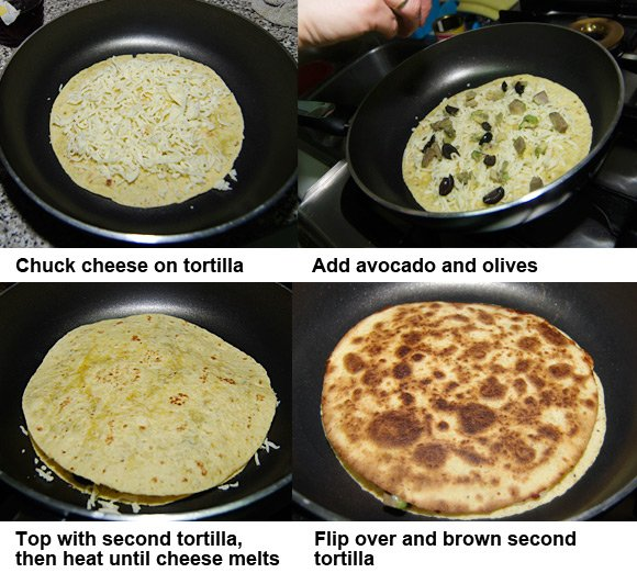 Your cut-out-and-keep guide to preparing a quesadilla