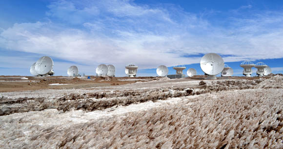 Atacama Large Millimeter/submillimeter Array (ALMA) with 16 dishes installed