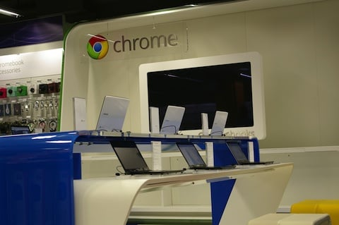 Chrome Zone in PC world, London, credit: the Reg