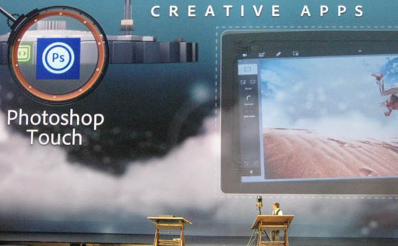Adobe CTO Kevin Lynch announces Photoshop Touch at the Adobe MAX conference