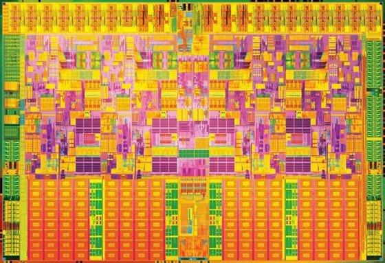 Intel Nehalem die shot