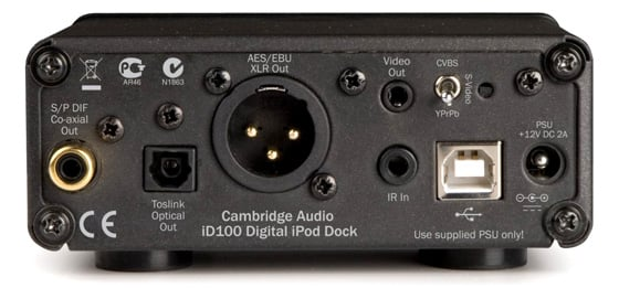 Cambridge Audio iD100 professional iOS device dock