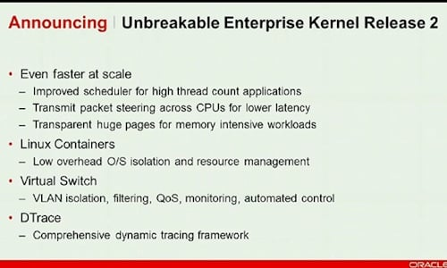 Oracle Linux kernel 2 beta