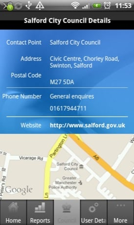 My Council Services Android app screenshot