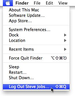 Log Out Steve Jobs... screenshot