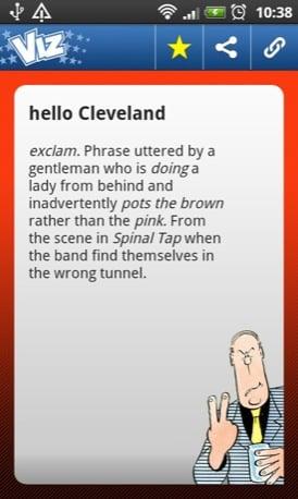 Viz Profanisaurus mobile app screenshot