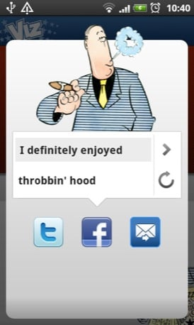 Viz Profanisaurus mobile app screenshot