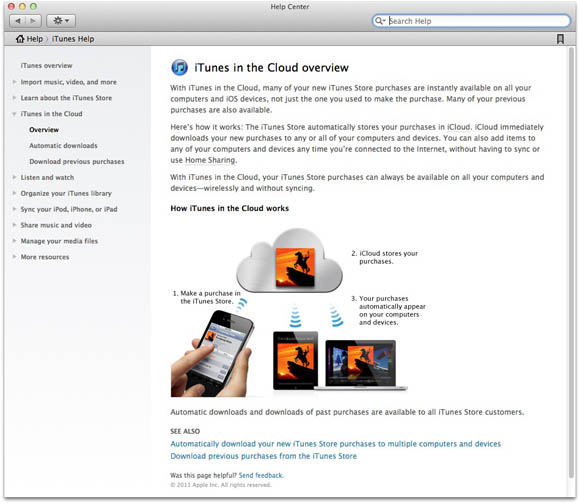 iTunes in the Cloud overview