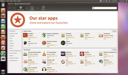 Ubuntu 11.10 lenses software center