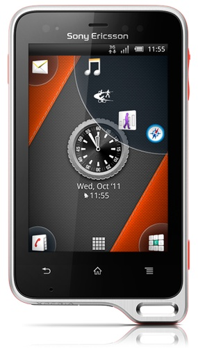 Sony Ericsson Xperia Active smartphone with ANT+