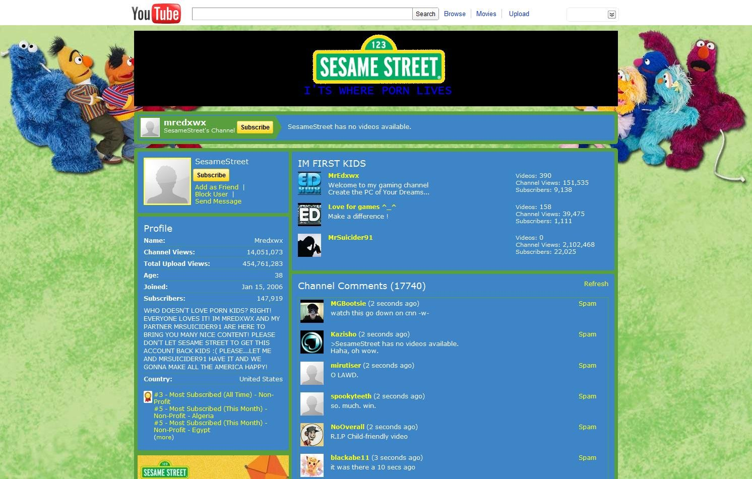 Street channel on YouTube