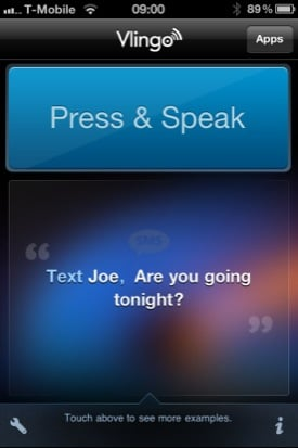 Vlingo iOS voice-recognition app