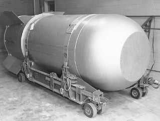 The B53 bomb prior to decommissioning