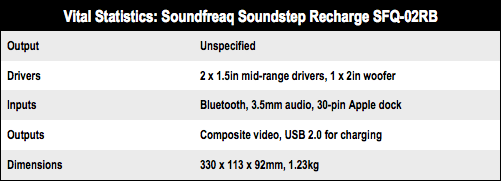 Soundfreaq Soundstep Recharge SFQ-02RB compact speaker