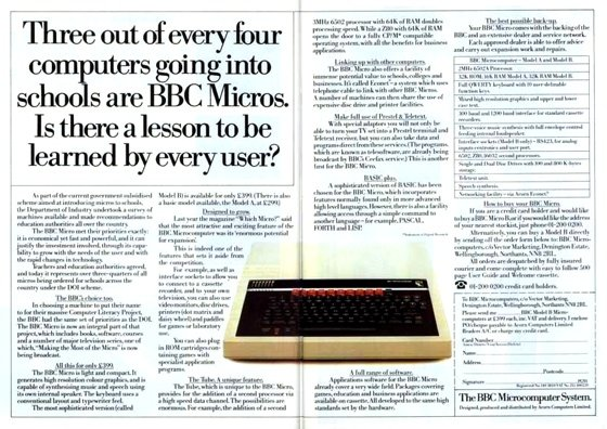 Advertising the BBC Micro