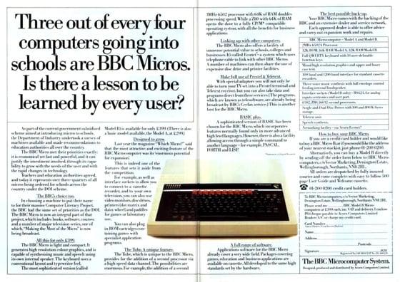 Advertising the BBC Micro