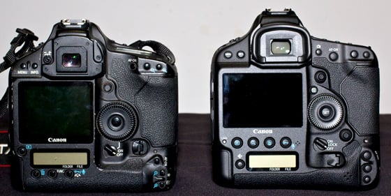 Canon EOS-1D X full-frame DSLR camera with EOS-1D Mark III