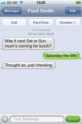 iOS Messaging