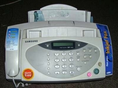 Fax machine, credit Wikimedia