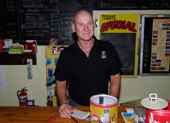 Gary Frost at the Dunmarra Wayside Inn