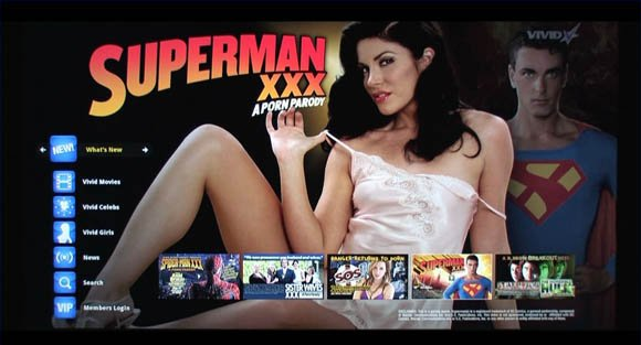Vivid Entertainment 'Porn Parody' page on Google TV