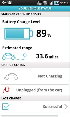 Renault Fluence ZE e-car Android app