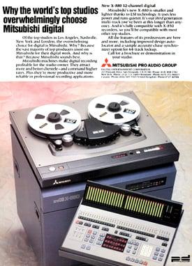 Mitsubishi X-880 32-track ProDigi recorder