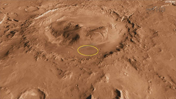 Mars Science Laboratory - landing site in Gale Crater
