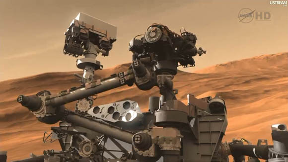 Mars Science Laboratory - Curiosity rover closeup