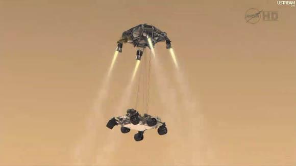 Mars Science Laboratory - Curiosity rover and skycrane