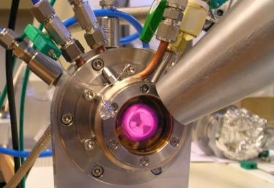 Heating of a catalyst sample in an 'in situ' cell at actual operating conditions. Credit: ESRF