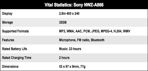 Sony NWZ-A866