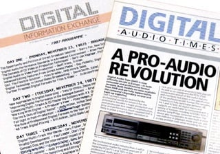 HHB Digital Information Exchange agenda and newsletter 1987